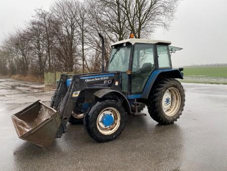 Traktor, Mærke: Ford, Model: Power SL 6640, inkl frontlæsser