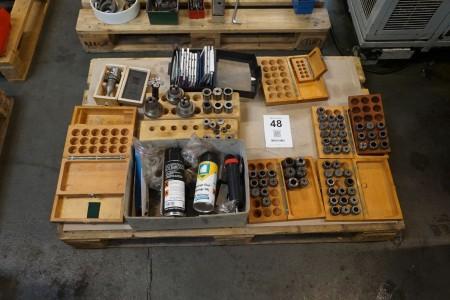 Palle med diverse værktøjs tilspænding