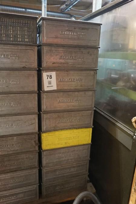 9 stk sortimentskasser. Mærke Schäfer