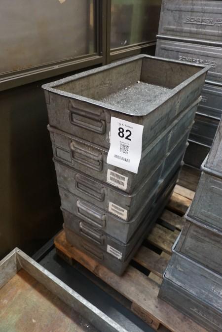 6 stk sortimentskasser. Mærke Danfoss
