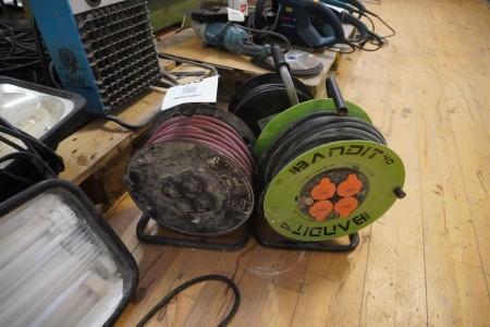 3 stk. kabeltromler
