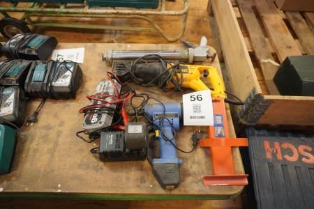 Diverse elværktøj, ladere mv.