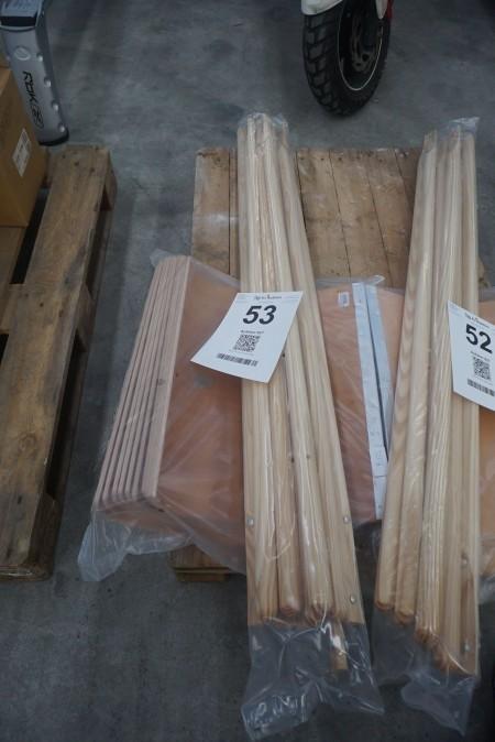 10 stk. sneskovl træblad med træskaft