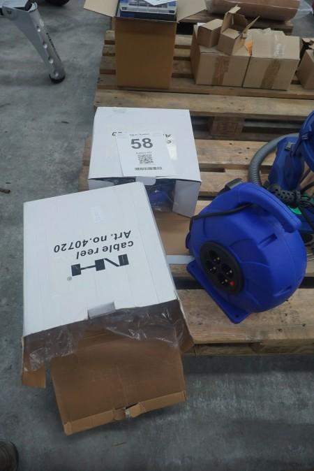2 stk. kabeltromler, mærke: NH, model: 40720 Ubrugt