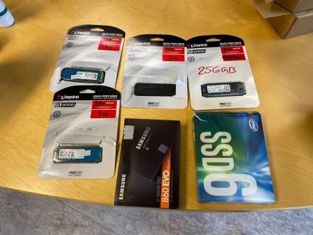 4 stk. Kingston Disque Flash + Samsung V-nand ssd 860 Evo + Intel SSD6