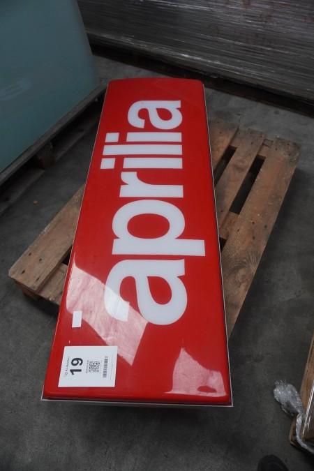 1 stk. Aprilia-skilt
