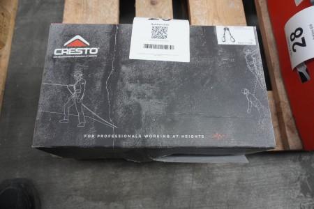 1 Stück. Doppelter Absturzsicherungsblock, Marke: Cresto, Modell: Twin Scaff SRL