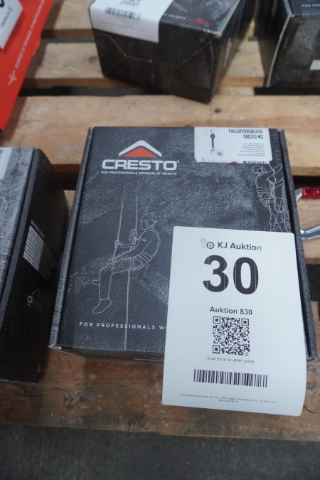 1 stk. faldsikingsblok, mærke: Cresto, model: W2