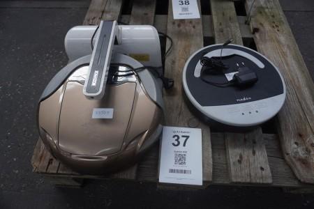 2 stk. robotstøvsugere, mærke: Deebot og Nedis