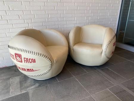 2 stk. baseball lænestole