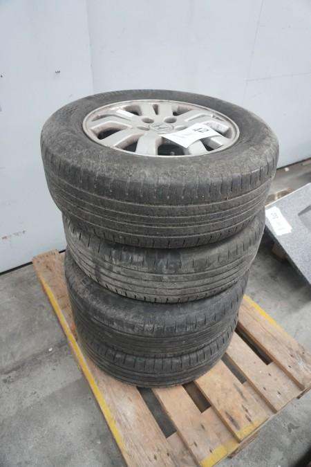 4 stk. dæk med fælg til Honda