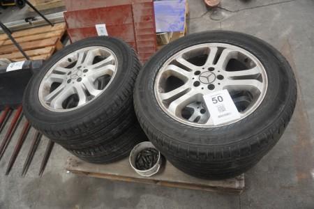 4 stk. dæk med fælg til Mercedes ML 320