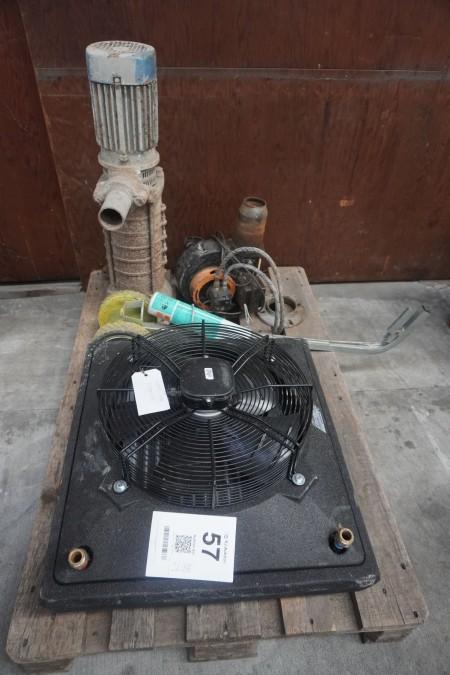 Blæser + pumpe + kridtmaskine + motor