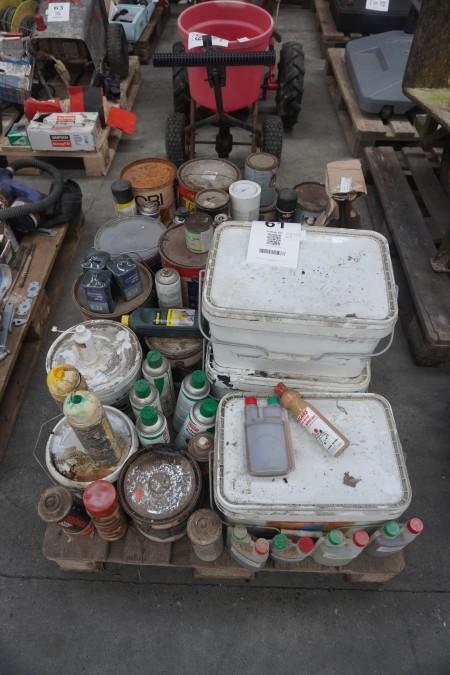 Stort parti kemikalier/maling