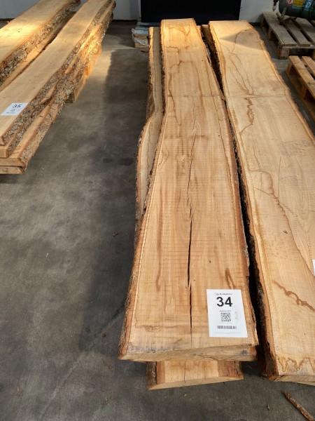 4 pcs. oven-dried oak planks
