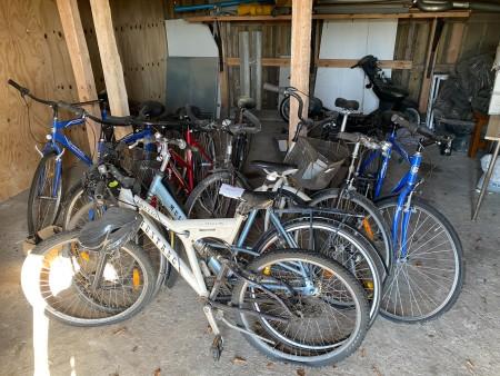 9 stk. Cykler