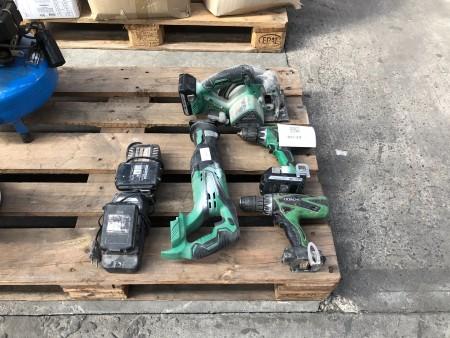 4 stk. elværktøj, mærke: Hitachi