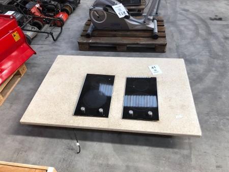 Bordplade med indbygget kogeplade, mærke: BOSCH