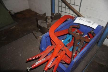 Lot of welding pliers + center cartridge
