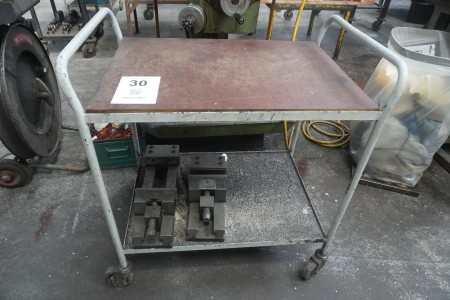 Trolley incl. 2 pcs. machine vice