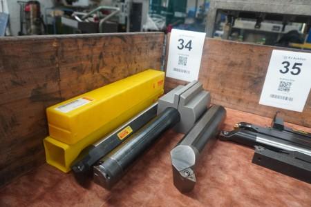 3 pieces. Steel holders, Brand: Sandvik