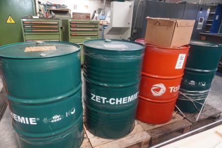 4 pieces. oil barrels without contents