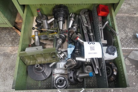 Contents in 1 drawer of various tool holders
