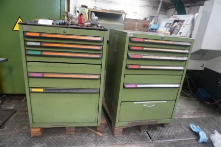 2 pcs. tool cabinets.