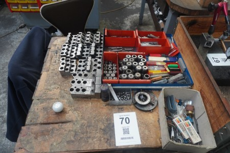 Batch clamping tool, tool holders, drill