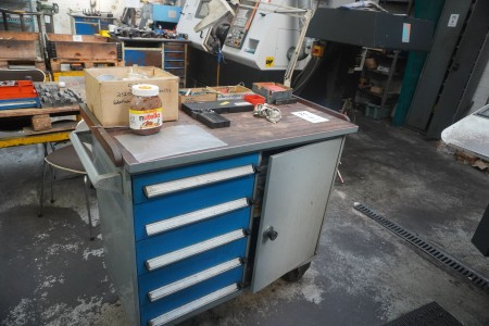 Tool trolley with contents