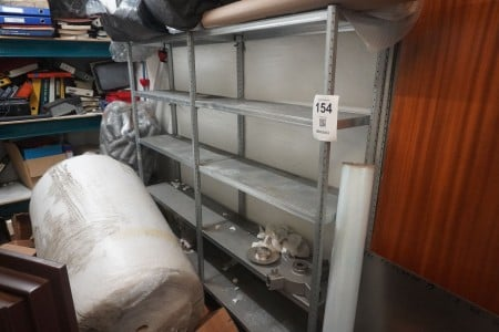 2 compartments steel shelf without content