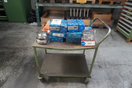 Trolley with contents of various ball bearings