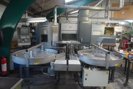 CNC controlled vertical lathe, Brand: Okuma, Model: LVT 300-m v / turn