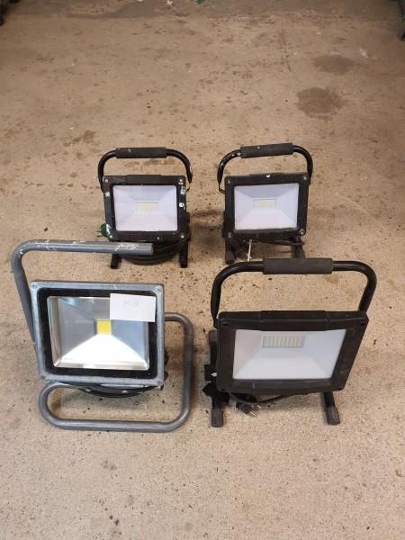 4 stk. LED arbejdslamper