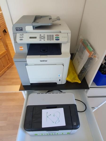 2 stk. printere, Mærke: Brother, Model: DCP-9042CDN + HL-1210W