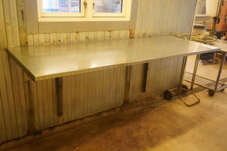 Arbejdsbord i rustfri stål