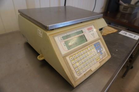 Labelmaskine med vægt, Mærke: Avery Berkel, Model: GM100