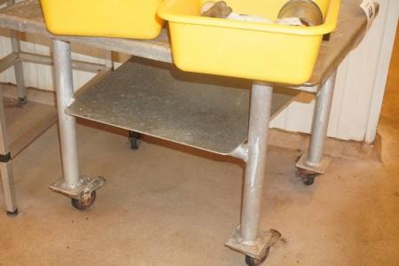 Rustfri rullebord uden indhold