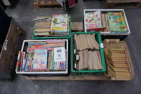 Parti jumbo, anders and, basserne og tarzan bøger og tegneserier