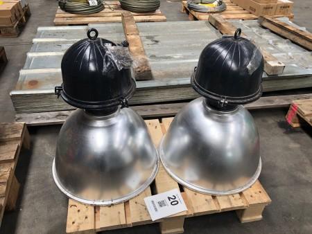 2 stk. industrilamper