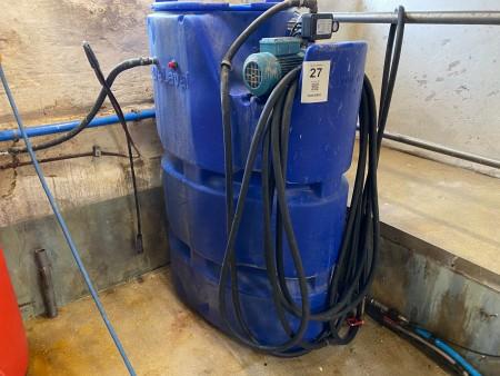 Vaskesystem med vandtank, Mærke: Delaval