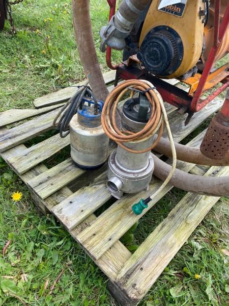 2 stk dykpumper + motoriseret pumpe