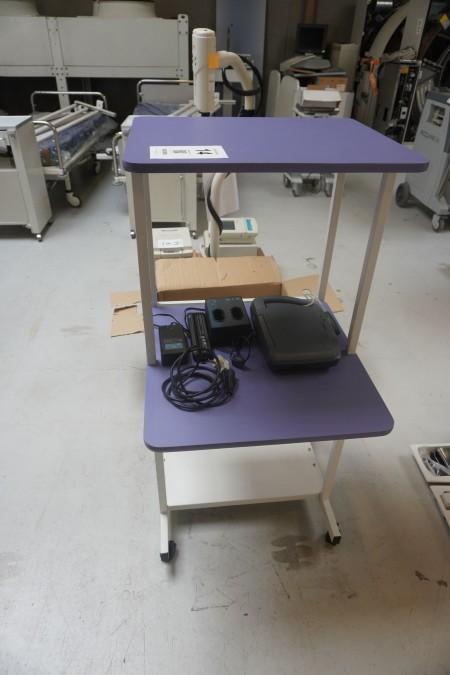 Rullebord/konsolbord med Steriliserbare overflader