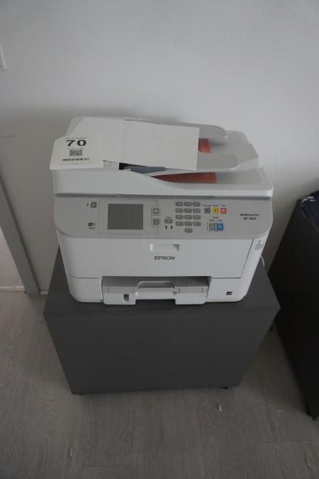 Printer + computer med skærm og tastatur