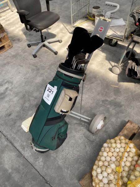 Golfset, Marke: Siherline + Golfwagen, Marke: Greenfield