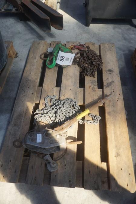 2 stk. kæde-/wire-taljer