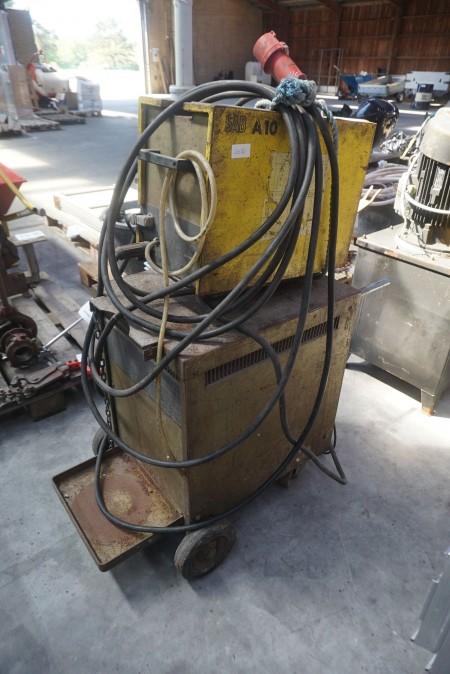 Schweißanlage, Marke: ESAB, Modell: LAE 315 & A10