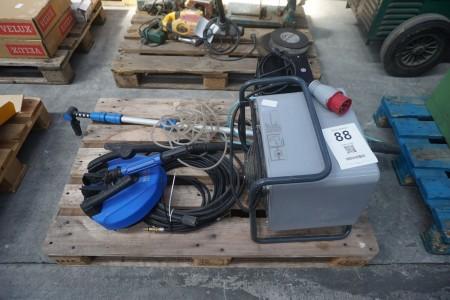 Varmeblæsere + lanser & diverse udstyr til højtrryksrenser, mærke: Nilfisk