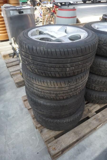 4 stk. dæk med fælg