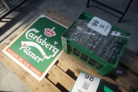 48 Stk. Glas + Carlsberg-Zeichen
